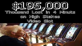 •BIG $195,000 Thousand Dollar LOSS NO Jackpot Handpay Video Slot High Stakes IGT, Aristocrat • SiX S