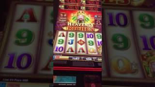 Heavenly Riches - $5.50 bet.  Almost 5 min and $200+ and bonus ?