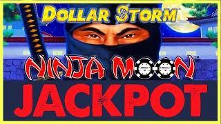 •️HIGH LIMIT Dollar Storm Ninja Moon HANDPAY JACKPOT $18 SPIN •️Egyptian Jewels Slot Machine Casino