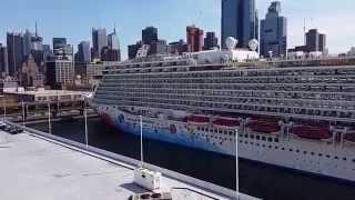 Norwegian Breakaway Cruise Ship- Aerial View