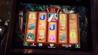 Montezuma slot machine $50 bet bonus jackpot handpay high limit pokie