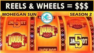 REEL WINS @ MOHEGAN SUN! WHEEL OF FORTUNE SLOT MACHINE, DOUBLE JACKPOT GOLD WINNERS SLOT