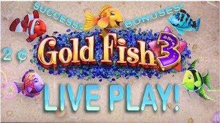 Goldfish 3 Live Play ! $2.10 Bet- 2 Machines at Once!