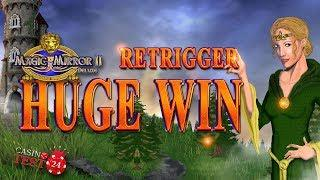 HUGE MEGA BIG WIN ON MAGIC MIRROR DELUXE II SLOT - 30 SPINS BONUS - 5€ BET!