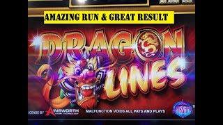 • GREAT RESULT•DRAGON LINES Slot machine (Ainsworth+Bally)•Free Play Slot Live Play $4.00 Max bet•彡栗