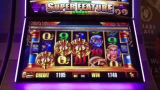 Fortunes of Atlantis Slot Machine Bonus & Retrigger Caesars Casino Las Vegas