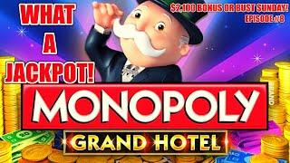 MONOPOLY GRAND HOTEL HANDPAY JACKPOT HIGH LIMIT $30 Bonus Round ★ Slots ★️WIZARD OF OZ ROAD TO EMERA