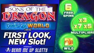 Sons of the Dragon: Dragon World Slot, First Look, Free Spins Bonus in New WMS game