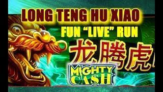 *NEW* - LONG TENG HU XIAO - *MIGHTY CASH* LIVE! - TRIPLE WIN? - Slot Machine Bonus