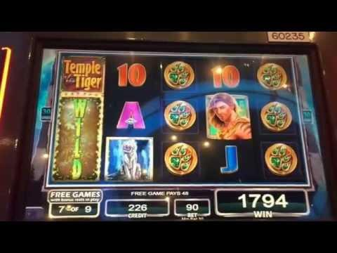 Temple of the Tiger 10 cents machine $9 bet Bonus 9 games ** SLOT LOVER **