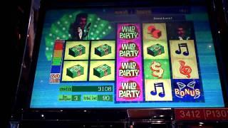 Dean Martin Wild Party slot machine bonus win at Sands Casino at Bethlehem