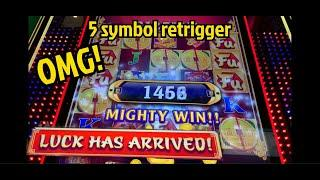 LUCK ARRIVED 4 Times - 5 SYMBOL Retrigger - FU NAN FU NU