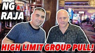 ⋆ Slots ⋆ $5,000 Group Pull - NG Slot & The Raja Team Up ⋆ Slots ⋆ $25 Spins on High Limit Dragon Link Autumn Moon
