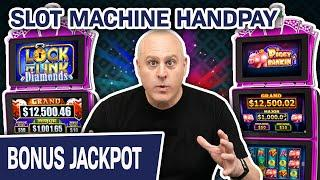 ⋆ Slots ⋆ SLOT MACHINE HANDPAY & Other Wins! ⋆ Slots ⋆ Lock It Link: Piggy Bankin' AND Diamonds