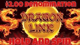 • Dragon Link Slot Machine •  $2.00 Denomination Hold And Spin Bonus Casino Pokies
