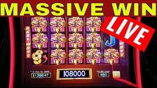 MASSIVE WIN on Dancing Drums Slot Machine | LIVE STREAM | LIVE CASINO PLAY | Better Than HANDPAY