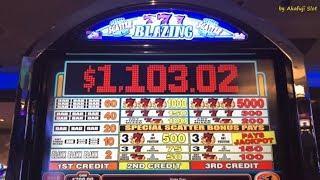 BLAZING 7's $1 Slot Machine, Max Bet $3, San Manuel Casino, Akafujislot, カジノ, スロット, カルフォルニア