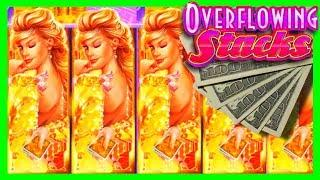BIG WIN AFTER BIG WIN on Overflowing Stacks Slot Machine Bonuses With SDGuy1234