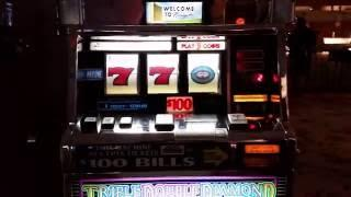 $100 Slot Machine Jackpot - High Limit Triple Double Diamond