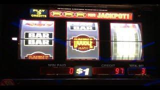 Double Jackpot MAX BET •LIVE PLAY• Slot Machine at Harrahs SoCal