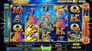 Atlantis World slots - 427 win!