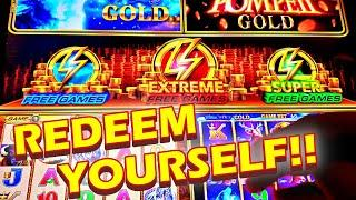 REDEEM YOURSELF!!! * NO EXECUTIVE DECISION NEEDED!!! - New Wonder 4 Boost Gold Slot Machine Bonus