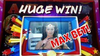 BIG WINS ON WONDER WOMAN - MAX BET