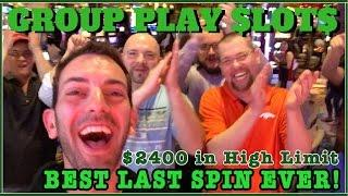 BEST Last Spin EVER- High Limit! • $2400 Group Pull • HL Slot Machines Fridays - Cleopatra + MORE!