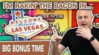 ⋆ Slots ⋆ I'm RAKIN' the BACON in VEGAS ⋆ Slots ⋆ HUGE Slot Spins at THE COSMOPOLITAN of LAS VEGAS