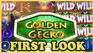 • FIRST LOOK • Golden Gecko • • Slot Machine Pokies w Brian Christopher