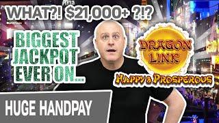 ⋆ Slots ⋆ THE LARGEST JACKPOT on Dragon Link: Happy & Prosperous ⋆ Slots ⋆ Multiple Wins = $21,000+