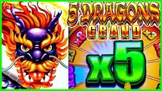 •5 Dragons GRAND • MASSIVE MAJOR JACKPOT WIN • Paging EZ Life Slot Jackpots
