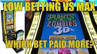 PLANTS VS ZOMBIES SLOT MACHINE-WHICH BET PAID MORE?