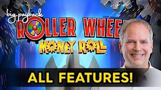 Roller Wheel Money Roll Slot - NICE SESSION, ALL FEATURES!
