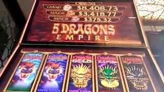 5 Dragons Rapid pokie slot win