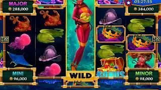 DIVING DEPTH Video Slot Casino Game with a FREE SPIN BONUS