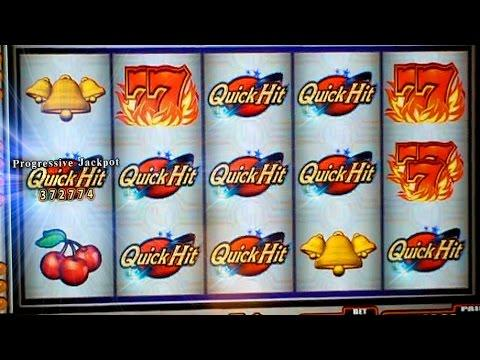 Huge Progressive Win Quick Hit Wild Red Bally Max