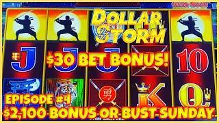 ★ Slots ★️HIGH LIMIT Dollar Storm Ninja Moon ★ Slots ★️$30 SPIN BONUS ROUND Slot Machine Casino