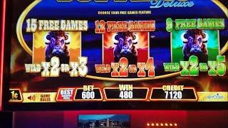 Buffalo Deluxe Slot Machine Bonus and Progressive Jackpot !!! Fast Cash Edition