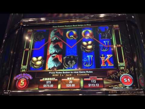 Ainsworth Eagle Bucks RE TRIGGERED high limit $20 bet free game bonus