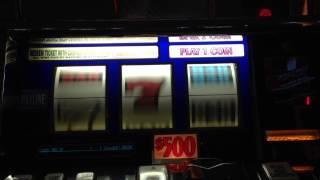 $500 slot machine pull HIGH LIMIT Borgata atlantic city pokie