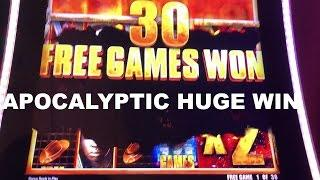 The Walking Dead 2 Apocalyptic HUGE WIN on Jackpot Bonus round Live Play Slot Machine Las Vegas