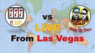 LIVE Stream Slot Challenge in LAS VEGAS - (Promo Only) Windy City Frenzy Vs, PJ Slots Friday 4-20-18
