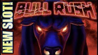 •NEW SLOT!• BULL RUSH - A GOOD OR BAD BULL!? • Slot Machine Bonus (EVERI)