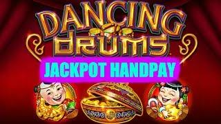 • JACKPOT HANDPAY • DANCING DRUMS • MAX BET • SLOT BONUS •