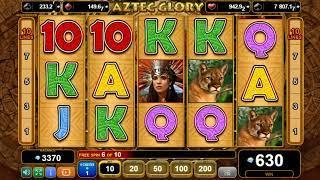 Aztec Glory casino slots - 645 win!