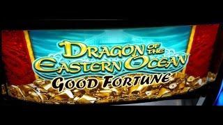 Aristocrat Dragons of the Eastern Ocean BIG WIN! Slot machine bonus free spins