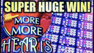 •SUPER HUGE WIN!• ALL 24 WINDOWS UNLOCKED!! •️ MORE MORE HEARTS Slot Machine Bonus [REPOST]