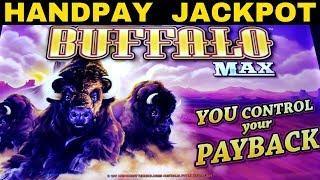 JACKPOT HANDPAY  on NEW Buffalo Max Slot Machine | Double Blessings Slot Machine $8.80 Max Bet Bonus