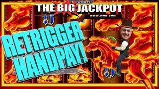 •RETRIGGER HANDPAY on MUSTANG MONEY 2 •EXCITING WIN!!!